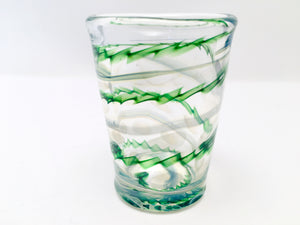 Shot Glass, Hand Blown Glass Drinkware, D556