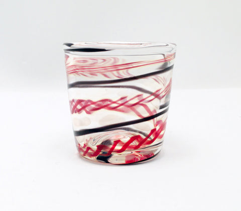 Shot Glass, Hand Blown Glass Drinkware, E375