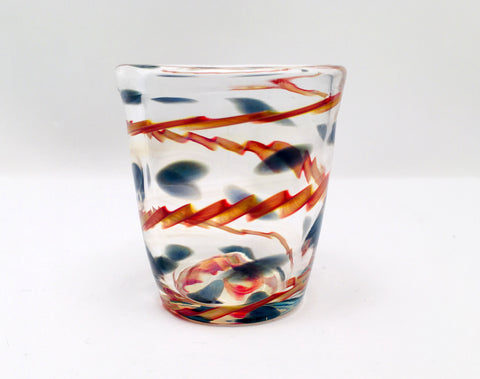 Shot Glass, Hand Blown Glass Drinkware, F123