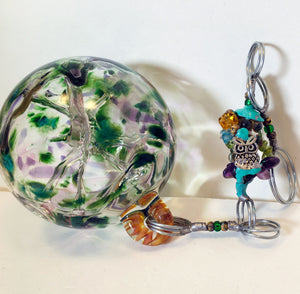 Pixie Orb, Green Blown Glass Sun Catcher