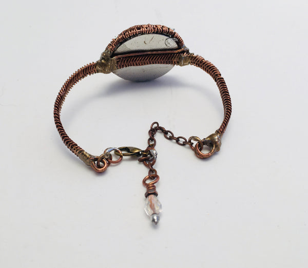 Bracelet, Tree of Life, Copper Wire-wrapped with Crystal Charm