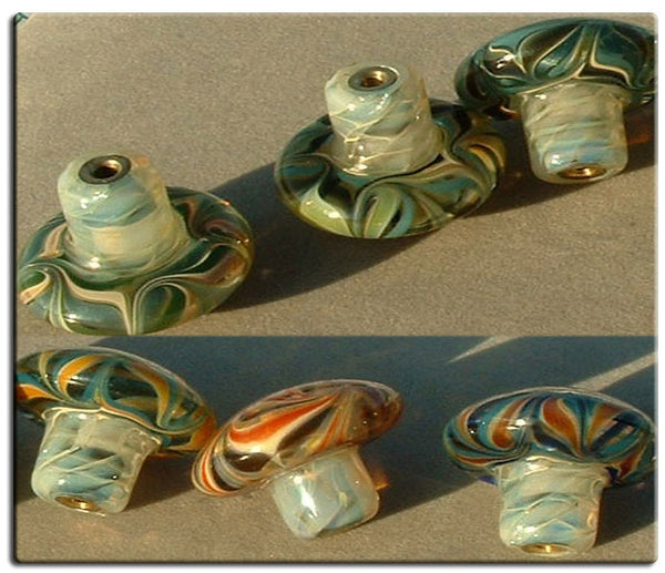 Cabinet Knobs, Glass Drawer Pull,Aqua, White  DP026 Hand Blown Glass Knobs