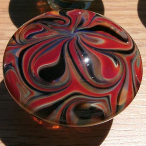 Cabinet Knob, Glass Drawer Pull, Red,Black,Amber DP002 Hand blown Glass