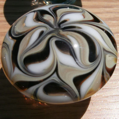 Cabinet Knobs, Glass Drawer Pulls, Black, White, Tan DP013