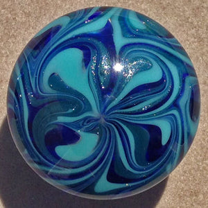Cabinet Knob, Glass Drawer Pull, Aqua, Cobalt, Sparkle Blue  DP015 Hand Blown Glass