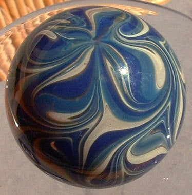 Round, Cabinet Knob, Glass Drawer Pull, Blue, Turquoise, Tan DP007,  Round, Hand Blown Glass