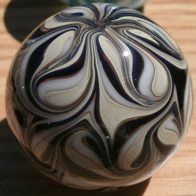 Round, Cabinet Knob, Glass Drawer Pull, Black, White, Tan DP013  Round Hand Blown Glass