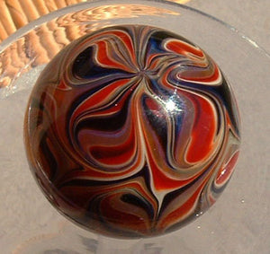 Round, Cabinet Knob, Glass Drawer Pull, Red, Black, Amber DP002  Round Hand Blown Glass