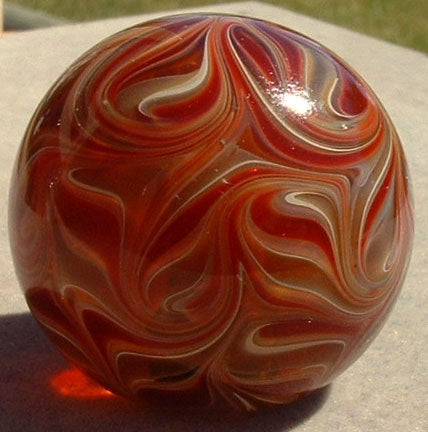 Round, Cabinet Knob, Glass Drawer Pull, Red, Amber, Tan DP009, Round, Hand Blown Glass