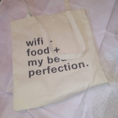 Canvas wifi tote