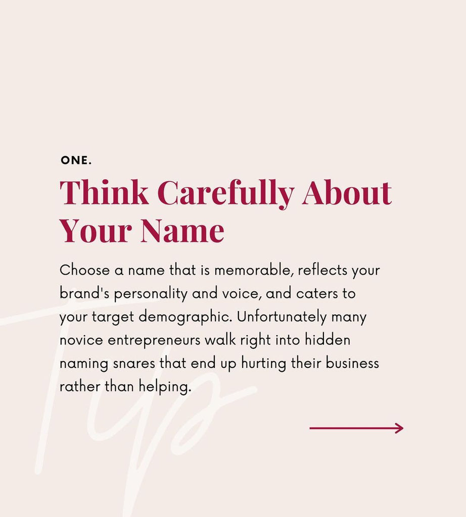 Think carefully abour your name
