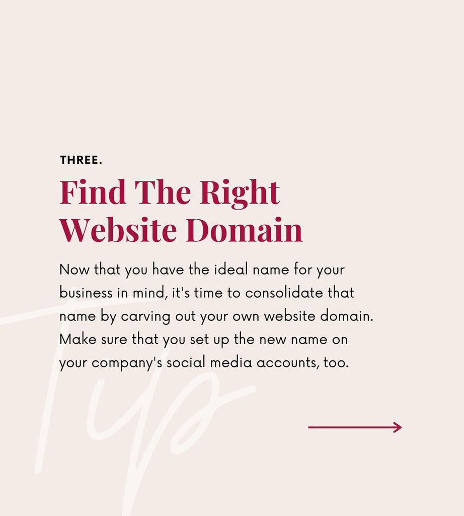 Find the right website domain