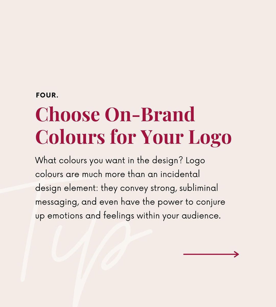 Choose on-brand colours for your logo