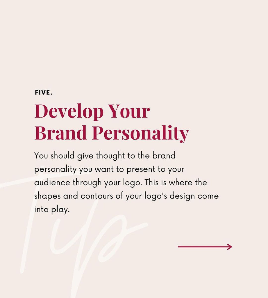 Develop your brand personality