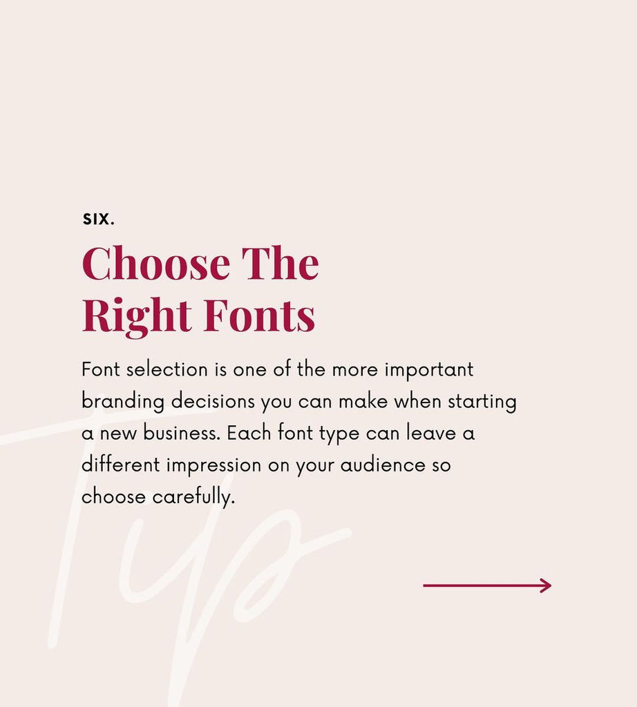 Choose the right fonts