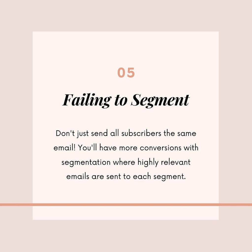 email marketing mistakes 5