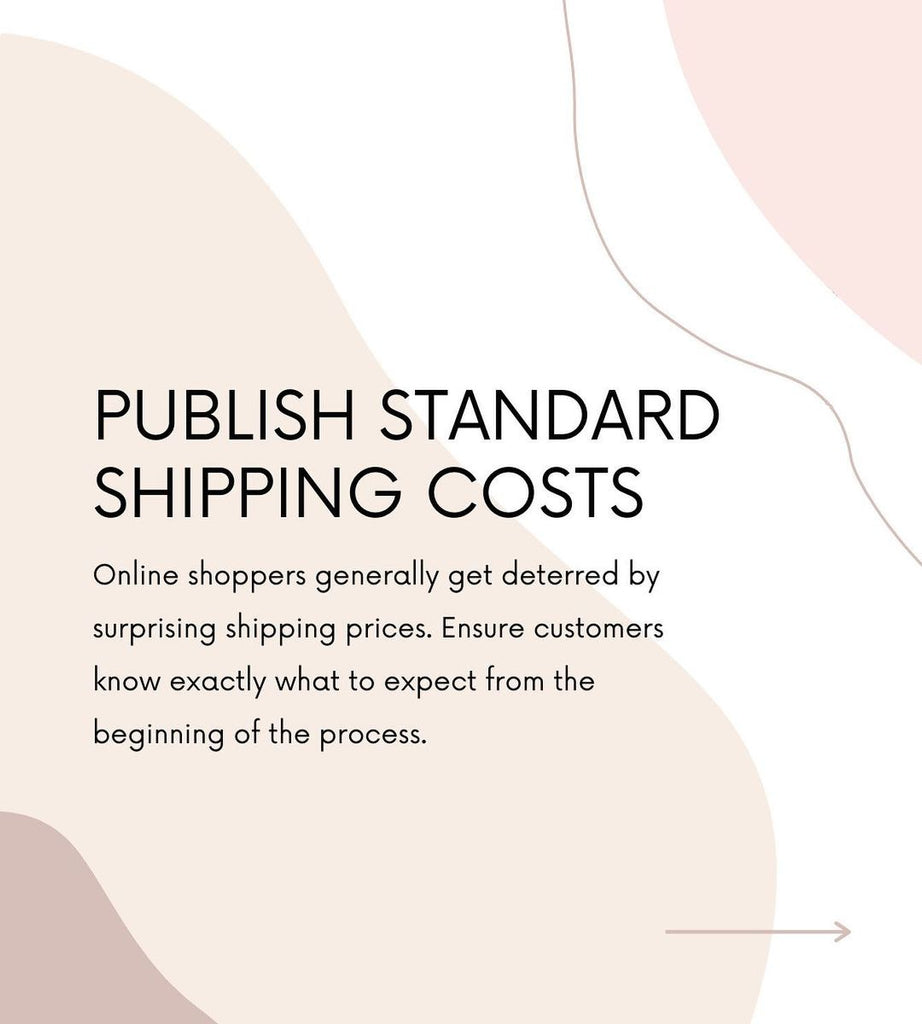 Publish standard shipping costs