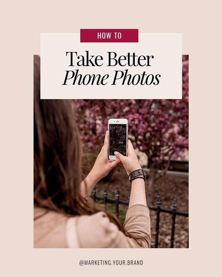 How to take better phone photos