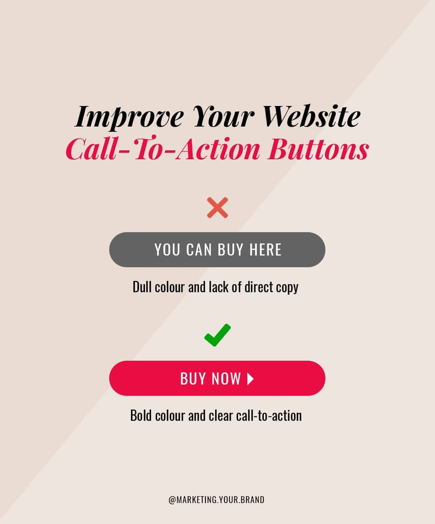 Improve call-to-action buttons
