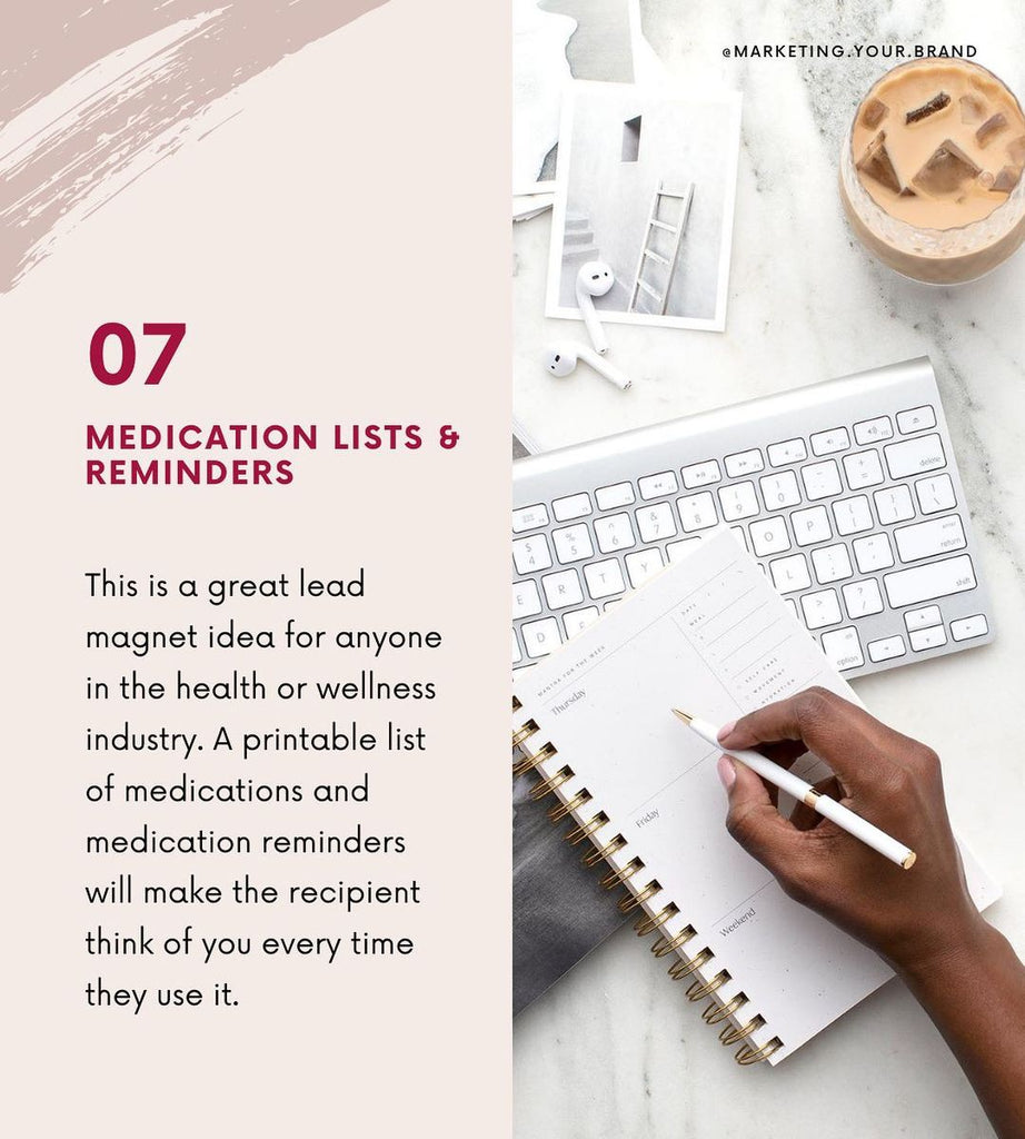 Medication lists and reminders