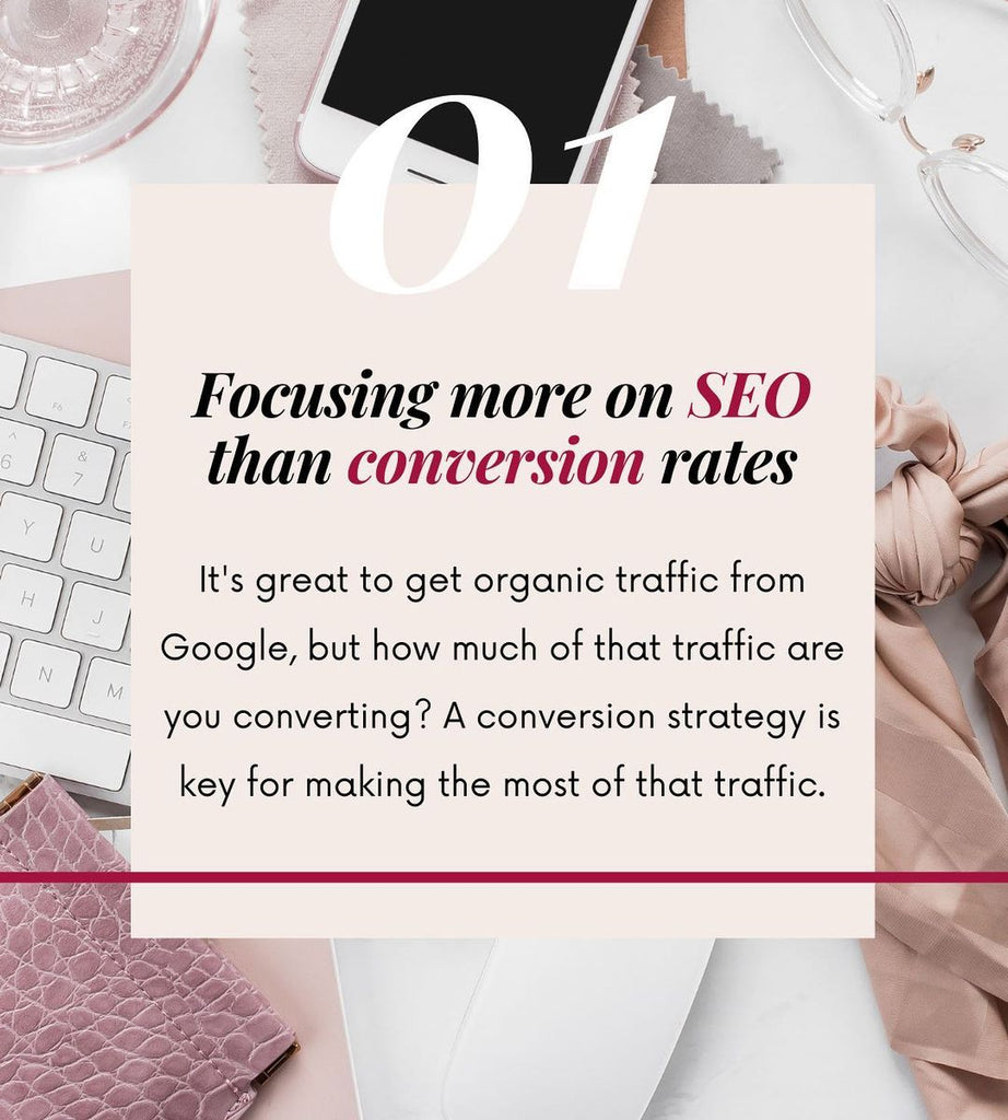 1 Focusing more on SEO than conversion rates
