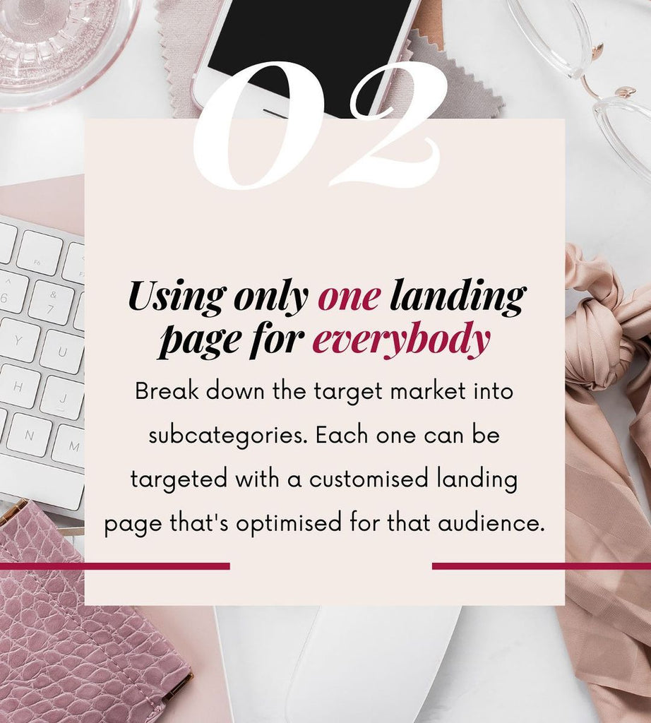 2 Using only one landing page for everybody