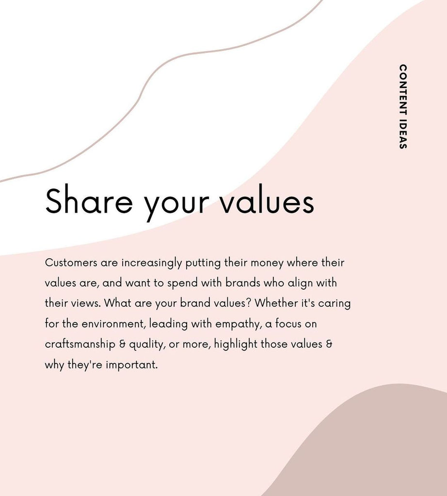 Share your values