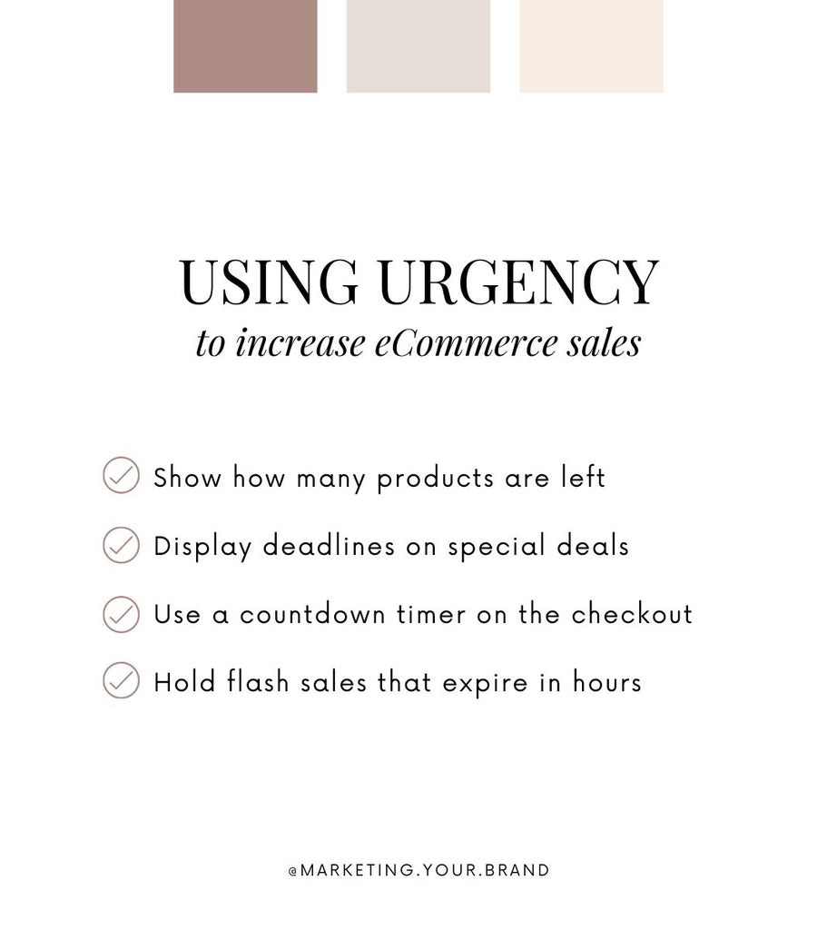 Using urgency to increase ecommerce sales