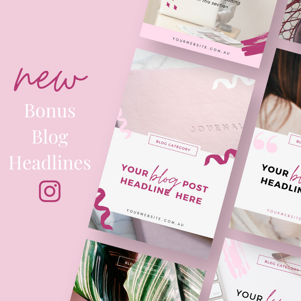 The Ultimate Social Media Templates For Pink Princess Brands: Pinterest & Instagram