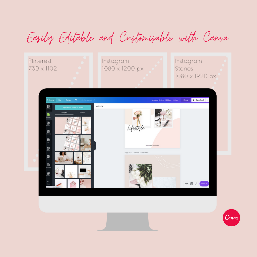 Easily Editable and Customisable with Canva