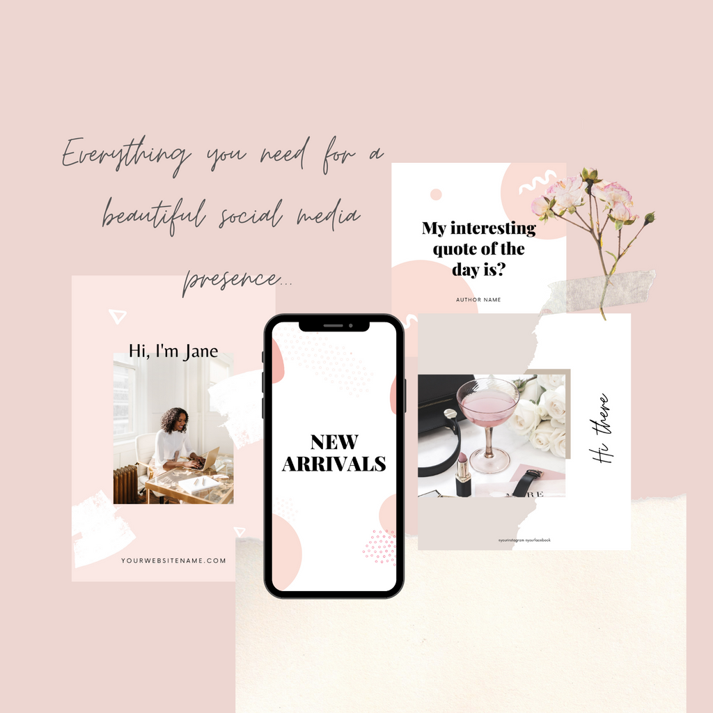 Everything you need for a beautiful social media presence