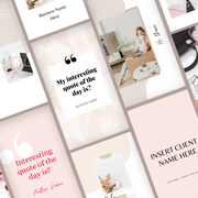 The Ultimate Social Media Templates For Modern-Femme Brands: Pinterest & Instagram