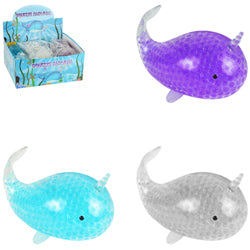 Jumbo Narwhal with Beads 7 inch $1.50 each / packed 72 pcs per case