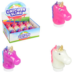 Unicorn Head Bottles with Glittery Slime $1.20 each / packed 84 pcs per case