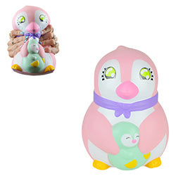 Jumbo Squishy Penguin with Baby 9 inch 1.00 each / packed 120 pcs per case