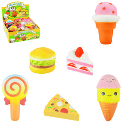 Squishy Food Mix Assortment 4-5 inches $1.50 each / packed 72 pcs per case