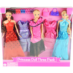 Princess Doll 3 Pack w/Accessories $8.50 each / packed 12 pcs per case