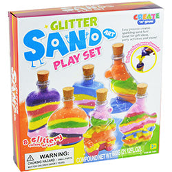 Glitter Sand Play Set - $7.95 each / packed 12 pcs per case
