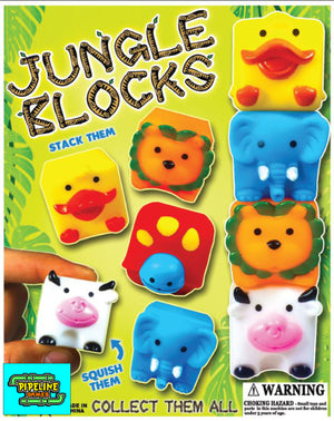 "2"" Jungle Blocks Bulk 25 cents"