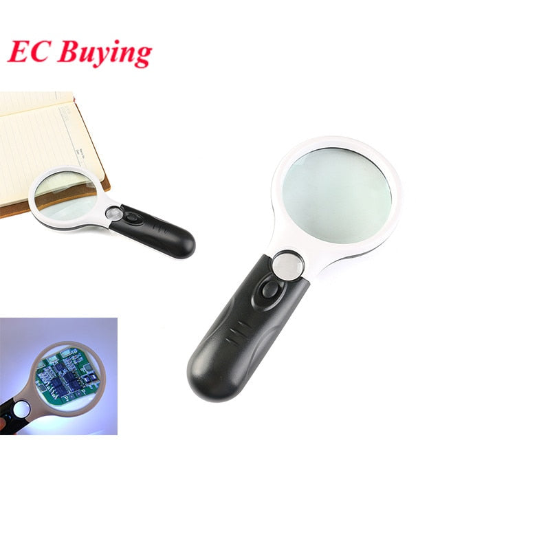 Illuminated Magnifier - Handheld 3X Magnifier HD with LED optical glass