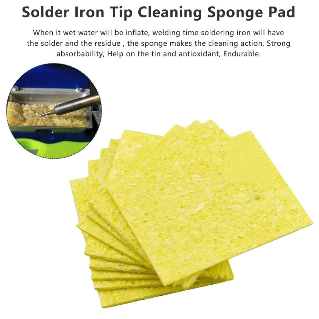 New 10pcs Thick Soldering Iron Cleaning Replacement High Temperature Resistant Sponge