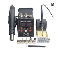 Soldering Station - Professional Grade with  Double Digital Display   +Hot Air Gun -SMD Rework Station