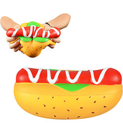 Jumbo Squishy Hot Dog 10.5 inch $.90 each / packed 120 pcs per case