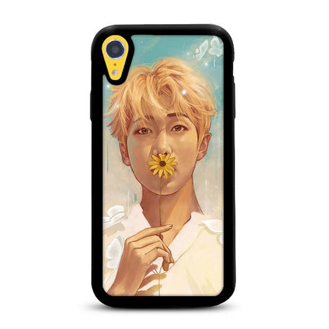 BTS Kim Nam Joon RM Flower iPhone XR hoesjes