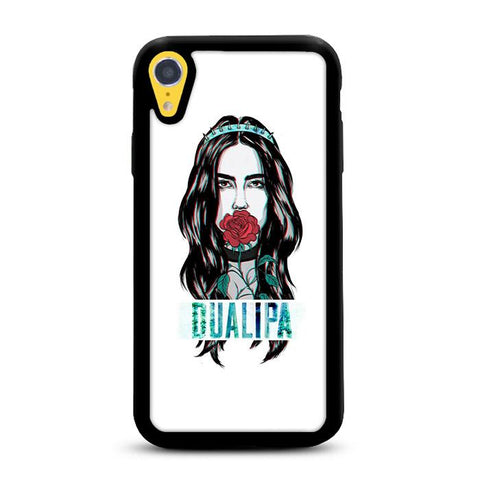 Dua Lipa Glitch Artwork iPhone XR hoesjes