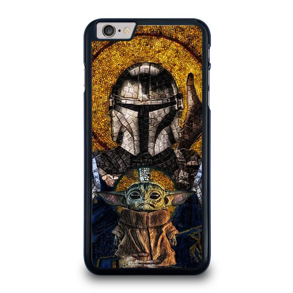 BABY YODA AND THE MANDALORIAN MOSAIC iPhone 6 / 6S Plus Hoesje