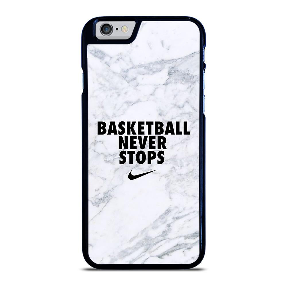 BASKETBALL NEVER STOPS MARBLE iPhone 6 / 6S hoesje - goedhoesje