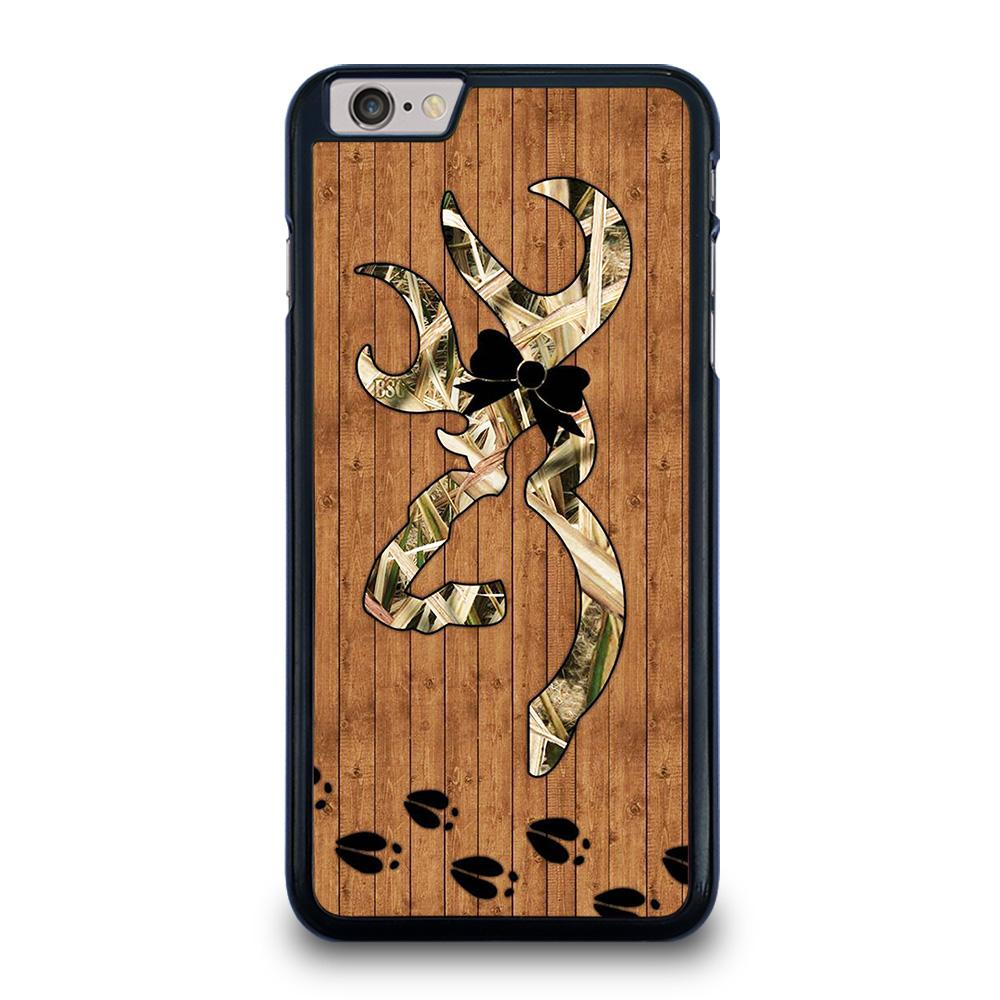 BROWNING WOODEN LOGO iPhone 6 / 6S Plus Hoesje