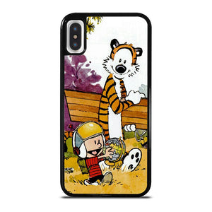 CALVIN AND HOBBES CARTOON iPhone X / XS Hoesje