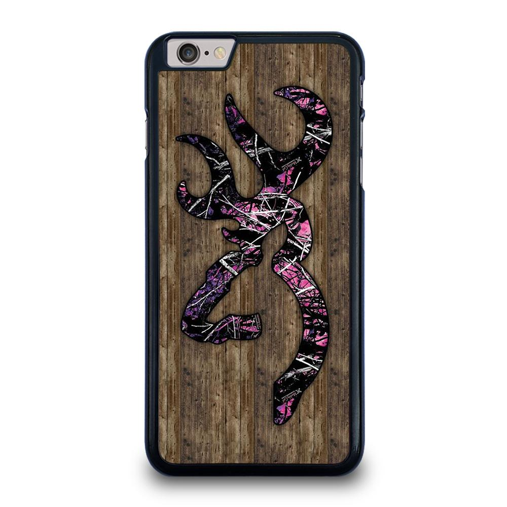 CAMO BROWNING PINK WOOD iPhone 6 / 6S Plus Hoesje